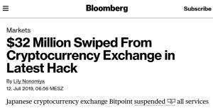 Bitpoint crypto exchange hack